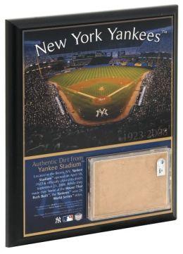 Original Yankee Stadium 8x10 Plaque with Game Used Dirt