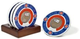 Chicago Cubs Coasters with Game Used Dirt - Set of 4