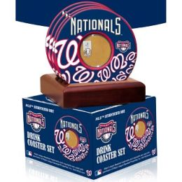 Washington Nationals Coasters with Game Used Dirt - Set of 4