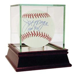 Joe Morgan MLB Autographed Baseball with Hall of Fame '90 Inscription