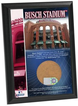 Busch Stadium 4x6 Plaque with Game Used Dirt