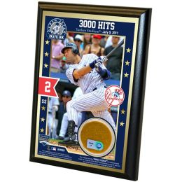 Derek Jeter 3,000th Hit 4x6 Dirt Plaque