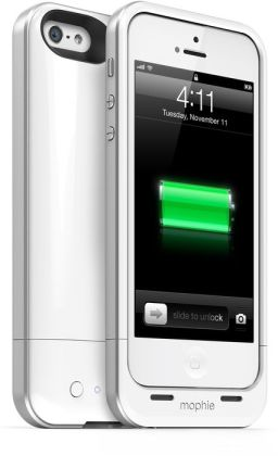 mophie Juice Pack Air Rechargeable External Battery Case for iPhone 5/5s - White
