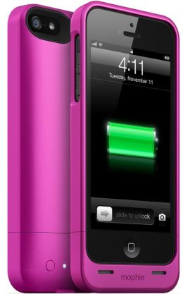 Mophie Juice Pack Helium Rechargeable External Battery Case for iPhone 5/5s - Pink