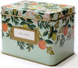Citrus Floral Recipe Box