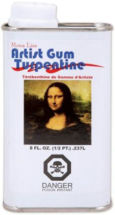 Mona Lisa Artist Gum Turpentine-8 Ounces