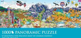 1000 Pc Panoramic Puzzle O' Beautiful for Spacious Skies Charles Fazzino