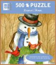 Product Image. Title: 500 Pc Puzzle Snowman and Cardinals Michelle Palmer