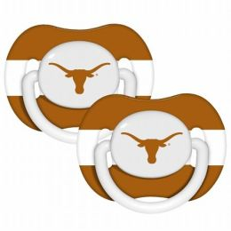 Baby Fanatic 143362 Texas Longhorns Pacifiers 2-pack