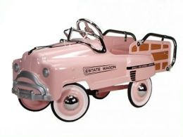 Pink Estate Wagon Pedal Car Ride-in