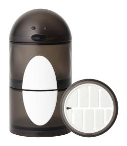 Boon, Inc. Penguin Snack Stack Container, Black and White