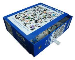 1,000 Piece Puzzle - 100 Penguins And A Polar Bear - Kevin Whitlark