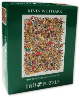 160 Pc Puzzle - 100 Reindeers And A Santa - Kevin Whitlark