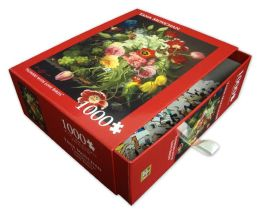 Flowers With Love Birds 1000 Piece Puzzle