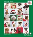 Product Image. Title: 500 Piece Glitter Puzzle - Holiday Puppies - Rachael Hale