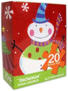 Robin Roderick Snowman 20 Piece Puzzle