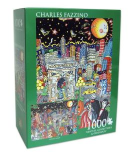 Charles Fazzino Ghosts, Good Times, & Gridlock 1000 Piece Puzzle