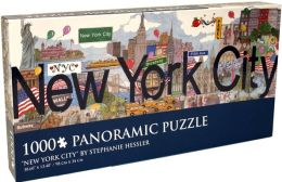 1,000 Piece Panoramic Puzzle Puzzle, New York City, Stephanie Hessler