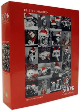 Keith Kimberlin Christmas Kittens 500 Piece Puzzle