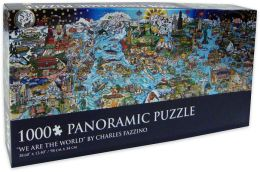 Charles Fazzino - We Are The World - 1,000 Piece Panoramic Puzzle