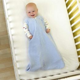 Halo SleepSack wearable blanket, 100% polyester microfleece, size medium, 16- 24 mos, soft blue