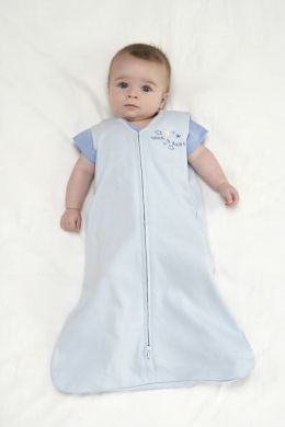 Halo Innovations SleepSack Wearable Blanket Cotton -  Baby Blue, Extra Large