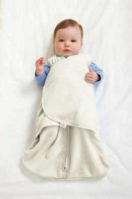 Halo Innovations SleepSack Swaddle Micro Fleece -  Cream Small