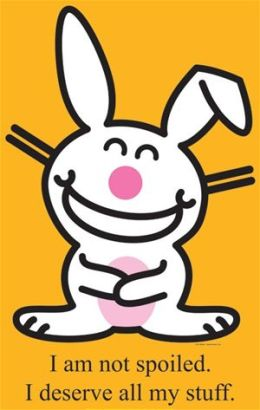 Advanced Graphics 928 Happy Bunny - Not Spoiled - Life-Size Cardboard Stand-Up