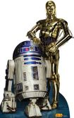 Product Image. Title: Star Wars R2-D2 & C-3P0 Cardboard Standup