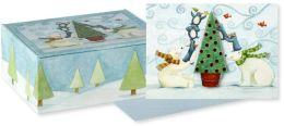 Tree Trimming Party Christmas Boxed Card