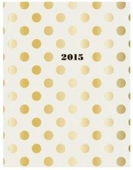 2015 Kate Spade Large Agenda Gold Dots Agenda Calendar