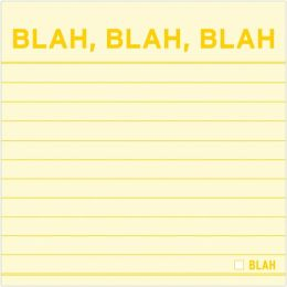 Blah, Blah, Blah Sticky Notes 100 Sheets