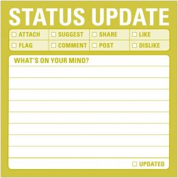 Status Update Sticky Notes 100 Sheets