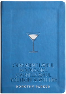 Blue Dorothy Parker Quote Flexi Bound Lined Journal 5 1/2 x 8