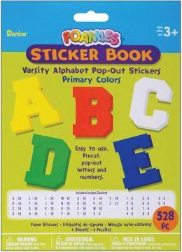 Foam Pop-Out Sticker Book 528/Pkg-Varsity Alphabet-Primary