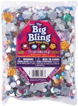 Rhinestone Shapes 3/4 Pound-Flowers, Round