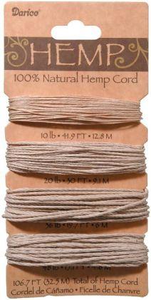 Hemp Cord Assortment 106.7 Feet/Pkg-Natural