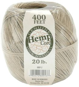 Hemp Cord 20# 400 Feet/Pkg-Natural