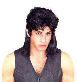 Adult Mullet Wig - Black