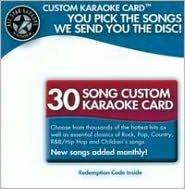 Karaoke: 30 Song Custom Karaoke Card