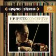 CD Cover Image. Title: Sibelius, Prokofiev, Glazunov: Violin Concertos, Artist: Jascha Heifetz
