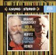 CD Cover Image. Title: Brahms, Tchaikovsky: Violin Concertos [Hybrid SACD], Artist: Jascha Heifetz