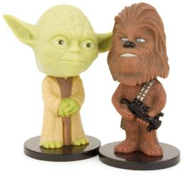 Yoda & Chewbacca Mini 2-Pack Wacky Wobblers