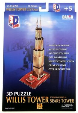 Willis Tower (Sears Tower) 51 Piece 3D Puzzle