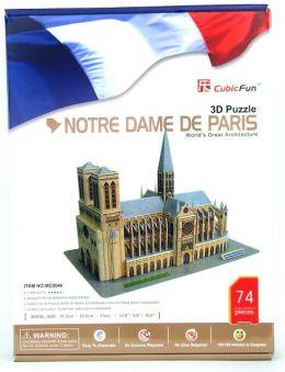 Notre Dame de paris 74 Piece 3D Puzzle