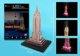 3D-LED Empire State Building Puzzle
