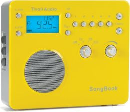 Tivoli Audio AM/FM Travel Clock Radio Songbook - Silver/Yellow Gloss