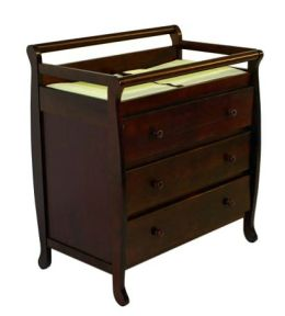 Dream On Me, Liberty Collection 3 Drawer Changing Table, Cherry