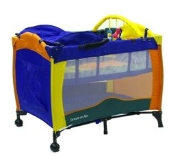 Dream On Me, Incredible 2 Level Full Size Play Yard with Changing Top, Multi Pack