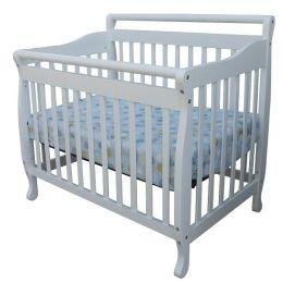 Dream On Me, 3 in 1 Portable Convertible Crib, White